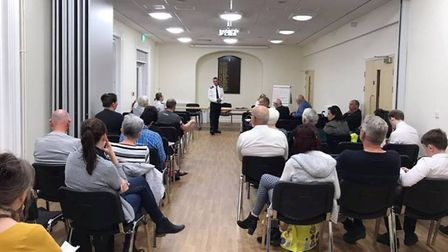 Concerns over knife crime and drugs in Soham raised at police meeting. Picture: CAMBS POLICE