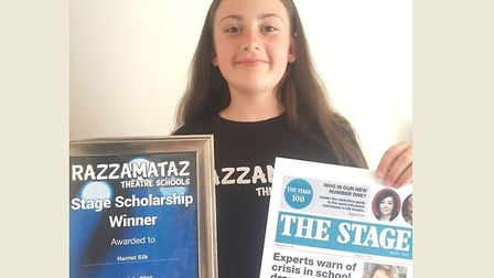 It is the time to shine for 12-year-old Harriet Silk from Chatteris who has been awarded a scholarsh