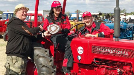 The Housden family at this year's Haddenham Steam Rally and Heavy Horse Show where they scooped the