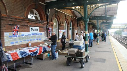 March Railway Station was packed with enthusiasts at the weekend as the local enthusiasts group cele