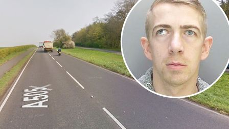 Drug driver Wayne Flecknell (pictured) who travelled the wrong way along a dual carriageway after sp
