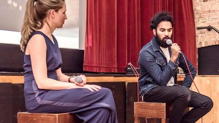 Himesh Patel visits Ely Cinema for exclusive Yesterday screening. Claire Somerville, chief executive