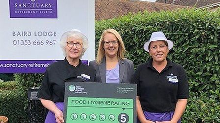 Staff at a retirement living service in Ely have celebrated receiving a five-star rating from the Fo