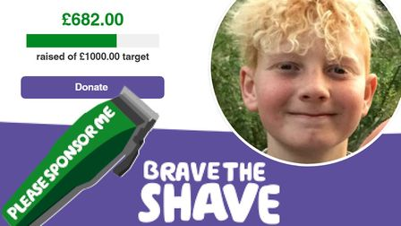Youngster Harrison Evans from Ely will brave the shave for Macmillan after his grandmother was diagn