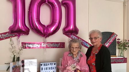 Lilian Taylor, who is a resident at The Hermitage Care Home in Whittlesey, celebrated her 101st birt