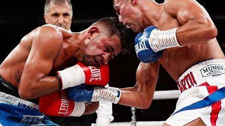 Chatteris featherweight Jordan Gill does the Italian Job on winning return to the ring. Picture: INS