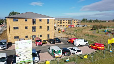 New drone images show the construction of a £9.3 million assisted living development in Whittlesey,