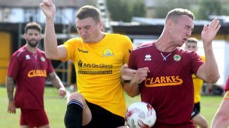Craig Gillies scored the only goal as March Town beat Wisbech Town in the Cambs Invitation Cup. Pict