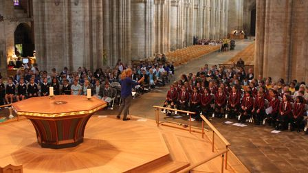 More than 180 children sang at Ely Cathedral as part of King's Ely's annual Choral Day. Picture: KIN