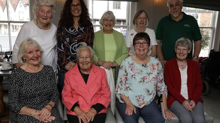 The Alexia Wilson Trust bid farewell to retiring volunteers at a tea party in August. Back row, L-R: