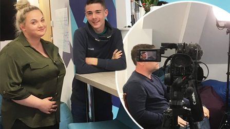 Film studies students from Witchford Village College helped shoot a show for the BBC during a work e