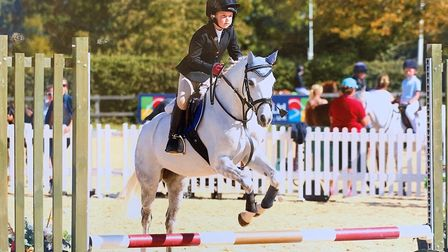 Charlotte Self (pictured) won top prize in a equestrian competition over the weekend. Picture: Suppl
