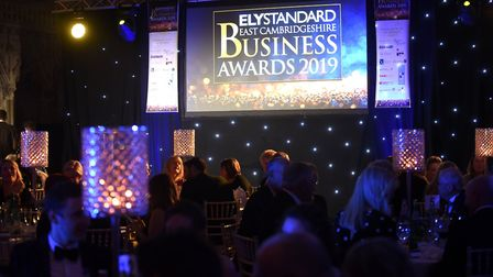 Guests enjoying a sumptious dinner at the Ely Cathedral as the 2019 Ely Standard Business Awards got
