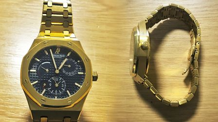 A luxury Audemars Piguet watch worth thousands has been recovered by police officers during a burg