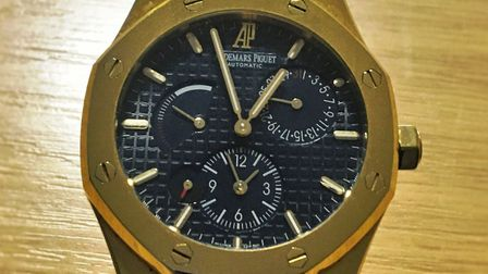 A luxury Audemars Piguet watch – worth thousands – has been recovered by police officers during a bu