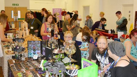 Spirit art, tarot readers, crystals and healers all formed part of Ely's first pagan fayre. Picture: