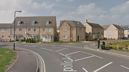 Constantine Drive, Peterborough. Nine women have been rescued and two men have been arrested in Camb