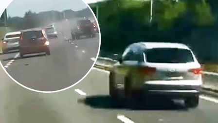 The horrific moment Madalina-Cristina Postolache ploughed her Audi Q7 into another car at more than