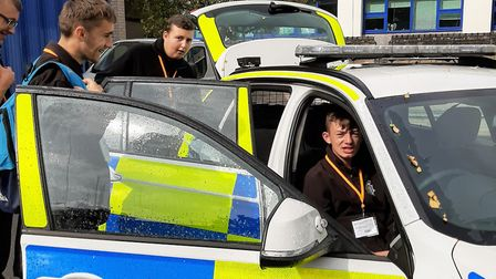Volunteer police cadets from Meadowgate school visited Cambridgeshire Police's HQ in Huntingdon. Pic