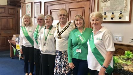 Fenland District Council chairman Councillor Kay Mayor held her annual charity coffee morning in aid