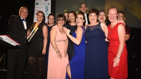 Ely Standard East Cambridgeshire Business Awards 2019 Business of the Year Bluebire Care