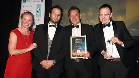 Ely Standard East Cambridgeshire Business Awards 2019Supporting Young People winner Dynamic Creative