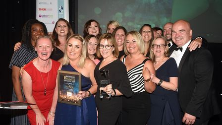 Ely Standard East Cambridgeshire Business Awards 2019Employer of the Year winner Life Fitness UK