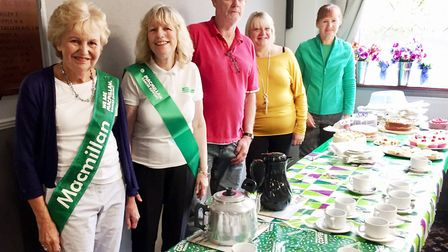 Stylish outfits, raffles and coffee morning raise money for Macmillan. Picture: LINDA GILL