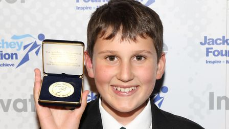 James Hoar received a Jack Petchey Foundation Achievement Award. Picture: CONTRIBUTED