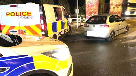 A driver was stopped in Guyhirn for no insurance but was found in possession of a class B drug. Pict