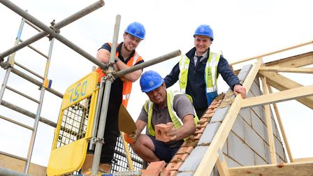 Construction staff at David Wilson Homes' Buttercross Park development are celebrating the end of an