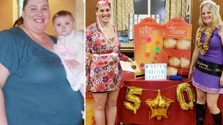 Super slimmer Kerrie joined members of the Slimming World group to celebrate their 50th anniversary.