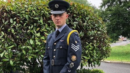 Young Ely air cadet Rory Donoghue (pictured) has achieved all three Duke of Edinburgh Awards. Pictur
