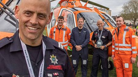 March firefighter Wayne Marshall (pictured) has scooped a Daily Mirror Pride of Britain award. Pictu