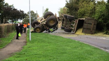 This happened about 10.45am on Tuesday October 8, south of the cross roads on New Road, Haddenham.