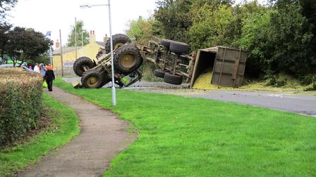 Accident involving tractor in Haddenham last week prompted a response from Cllr Bill Hunt about trac