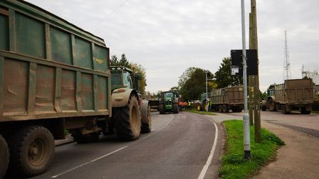Time for the cleanup. Following the crash in Haddenham in which a tractor and trailer overturned, co