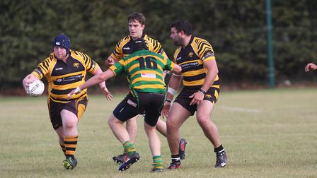 Full Time Ely Tigers 111 – 3 Crusaders. Adam featherstone shows off one handed ball control.. Pictur