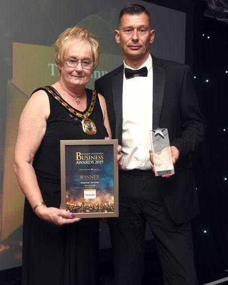 Fenland Business Awards 2019. New Business of the Year award winner Waymar Services. Picture: IAN CA
