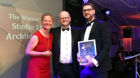 Fenland Business Awards 2019. Small Business of the Year award winner Studio 11 Architecture with ho