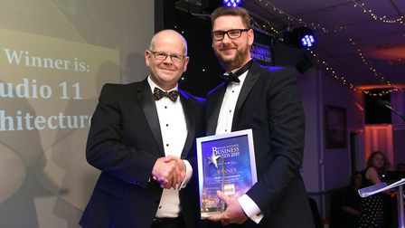 Fenland Business Awards 2019. Small Business of the Year award winner Studio 11 Architecture. Pictur
