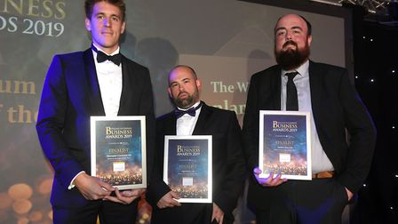 Fenland Business Awards 2019. Medium Business of the Year award winner Fenland RP Ltd with finalists