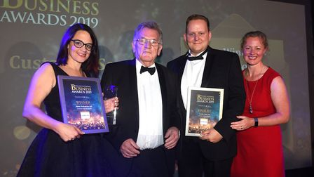 Fenland Business Awards 2019. Customer Service of the Year award winner Abtec Industries and finalis