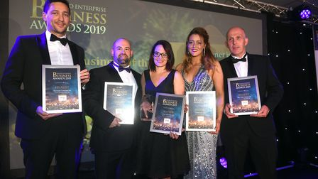 Fenland Business Awards 2019. Family Business of the Year winner Abtec Industries Ltd and finalists.