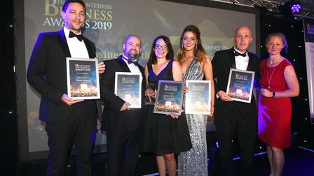 Fenland Business Awards 2019. Family Business of the Year winner Abtec Industries Ltd and finalists