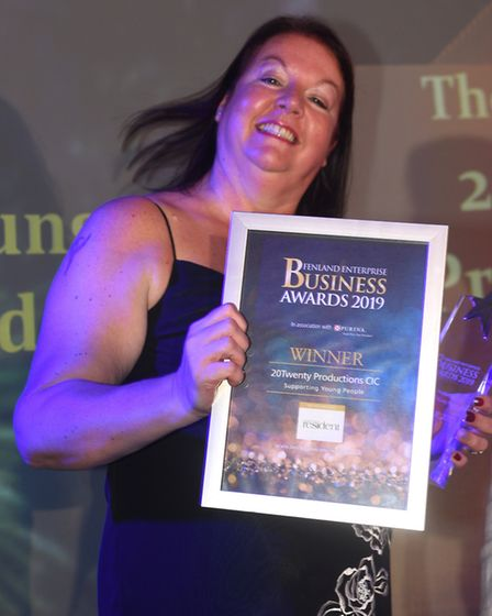 Fenland Business Awards 2019. Supporting Young People winner 20Twenty Productions. Creative director