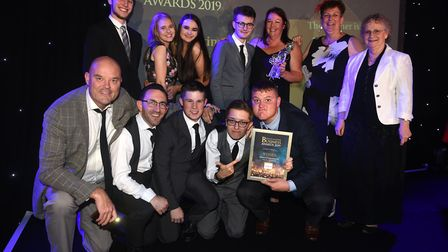 Fenland Business Awards 2019. Supporting Young People winner 20Twenty Productions. Picture: IAN CART