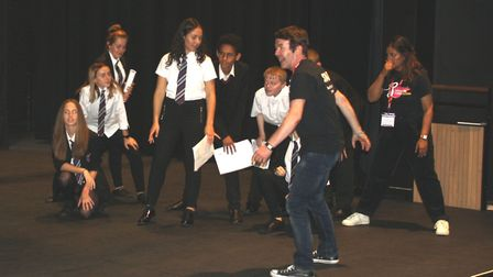 Students from Witchford Village College travelled back in time as they attended the Shakespeare Scho