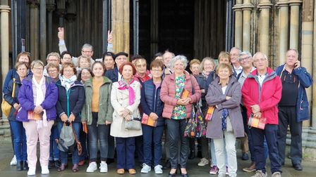 Visitors from French town twinned with Soham explore Cambridgeshire. Picture: Vivienne Robinson
