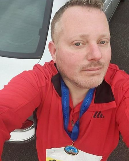 Craig Cheetham, 42, set himself the task of running one half marathon a month in aid of charity last